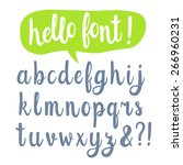 hand drawn calligraphic font | Shutterstock .eps vector #266960231