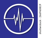 abstract dark blue beats... | Shutterstock .eps vector #266960819