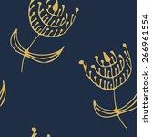 endless pattern. hand drawn... | Shutterstock . vector #266961554