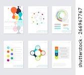 set of timeline infographic...   Shutterstock .eps vector #266967767