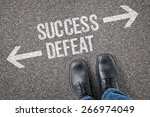 decision at a crossroad  ... | Shutterstock . vector #266974049