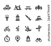 camping icon set  vector eps10.