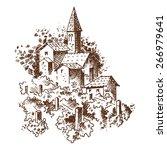 vineyards engraving   Shutterstock .eps vector #266979641