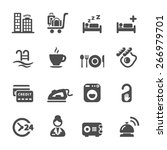 hotel service icon set 8 ... | Shutterstock .eps vector #266979701