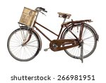 Vintage Bicycle Isolated On A...