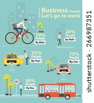 info graphic business people... | Shutterstock .eps vector #266987351