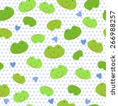 pattern with frog. the frog... | Shutterstock .eps vector #266988257