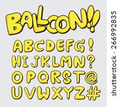 cute balloon alphabet a z font