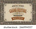 vintage retro festival poster... | Shutterstock .eps vector #266994557