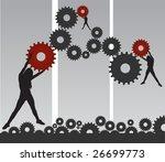 people | Shutterstock .eps vector #26699773