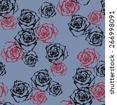 rose graphic  pattern seamless | Shutterstock . vector #266998091