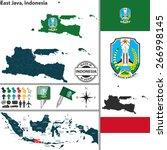 vector map of region east java...   Shutterstock .eps vector #266998145