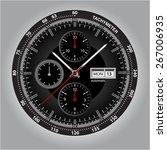 vector watch. vector handwatch. ... | Shutterstock .eps vector #267006935
