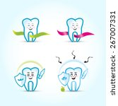 tooth mascot. tooth characters  ... | Shutterstock .eps vector #267007331