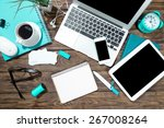 laptop  tablet  app. | Shutterstock . vector #267008264
