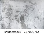 old dirty texture  grey wall... | Shutterstock .eps vector #267008765