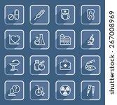 medicine flat contour icons...   Shutterstock .eps vector #267008969