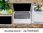 mac  laptop  top. | Shutterstock . vector #267009485