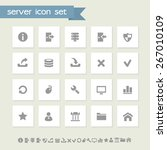 simple gray server icons