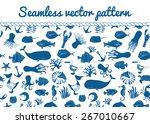 Blue Seamless Sea Vector...