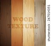 wood texture set  vector eps10... | Shutterstock .eps vector #267014351