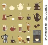 coffee icon set | Shutterstock .eps vector #267023831