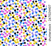 ditsy vector polka dot pattern... | Shutterstock .eps vector #267024407