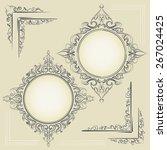 set of vintage design elements  ... | Shutterstock .eps vector #267024425