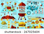 set of bbq and picnic... | Shutterstock .eps vector #267025604