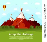 accept the challenge concept... | Shutterstock .eps vector #267025679