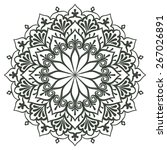 mandala for painting. vector... | Shutterstock .eps vector #267026891