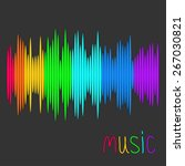digital abstract equalizer.... | Shutterstock .eps vector #267030821