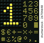 display with digits and symbols | Shutterstock .eps vector #26704648
