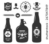 set of vintage craft beer... | Shutterstock .eps vector #267047849
