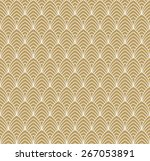 seamless art deco pattern of... | Shutterstock .eps vector #267053891
