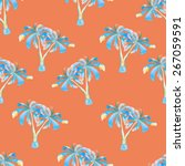 tropical seamless pattern with... | Shutterstock . vector #267059591