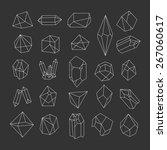 set of crystals. geometric... | Shutterstock .eps vector #267060617