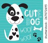 Stock vector cute dog vector illustration 267072695