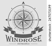 corporate logo with windrose... | Shutterstock .eps vector #267073199