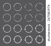 set of white circle vector... | Shutterstock .eps vector #267081974