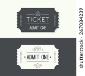 entry ticket to old vintage...   Shutterstock .eps vector #267084239