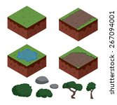 Set Of Cartoon Isometric Ground ...