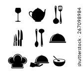 menu design over white... | Shutterstock .eps vector #267098984