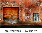 Detail Of An Old Brick Warehouse