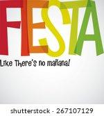 bright typographic fiesta card... | Shutterstock .eps vector #267107129