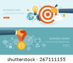vector illustration set. flat... | Shutterstock .eps vector #267111155