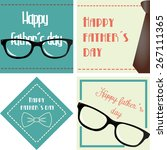 set of vintage backgrounds with ... | Shutterstock .eps vector #267111365