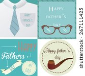 set of vintage backgrounds with ... | Shutterstock .eps vector #267111425