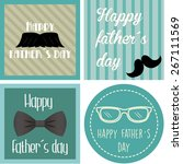 set of vintage backgrounds with ... | Shutterstock .eps vector #267111569