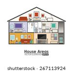 house areas design over white... | Shutterstock .eps vector #267113924